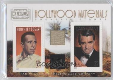 2010 Panini Century Collection - Souvenir Stamps Hollywood Combos - Two Subjects Two Stamps Materials [Memorabilia] #8 - Cary Grant, Humphrey Bogart /250