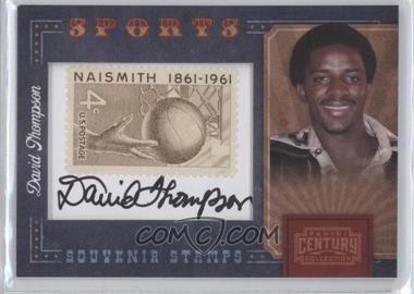 2010 Panini Century Collection - Souvenir Stamps Sports - Version 1 Signatures [Autographed] #36 - David Thompson /75