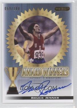 2010 Razor Sports Icons Cut Signature Edition - Award Winners - Blue #AW-1 - Bruce Jenner /100