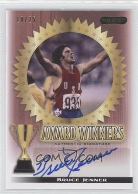 2010 Razor Sports Icons Cut Signature Edition - Award Winners - Red #AW-BJ1 - Bruce Jenner /25