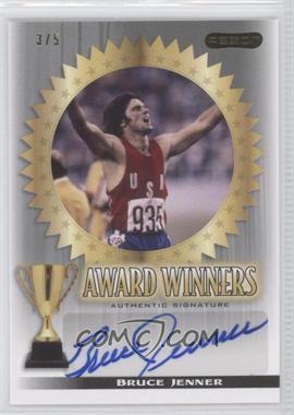 2010 Razor Sports Icons Cut Signature Edition - Award Winners - Silver #AW-1 - Bruce Jenner /5