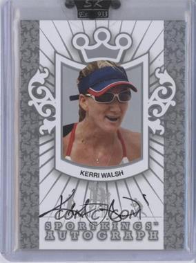 2010 Sportkings Series D - Autographs - Silver #A-KWA2 - Kerri Walsh