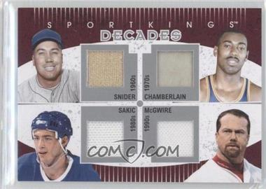 2010 Sportkings Series D - Decades - Silver #D-01 - Duke Snider, Wilt Chamberlain, Joe Sakic, Mark McGwire