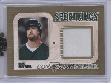 2010 Sportkings Series D - Single Memorabilia - Gold #SM-15 - Mark McGwire