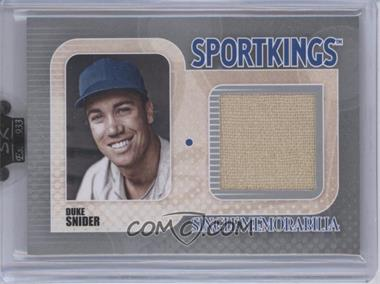 2010 Sportkings Series D - Single Memorabilia - Silver #SM-09 - Duke Snider