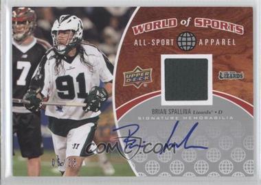 2010 Upper Deck World of Sports - All-Sport Apparel - Autographs #ASA-50 - Brian Spallina /25