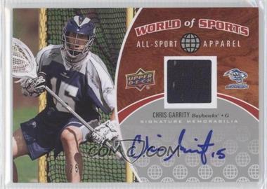 2010 Upper Deck World of Sports - All-Sport Apparel - Autographs #ASA-55 - Chris Garrity /25
