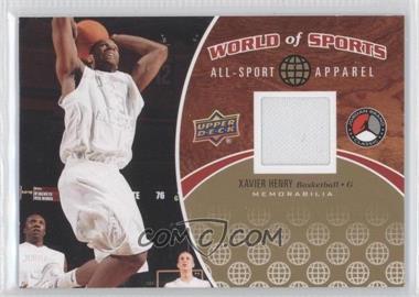 2010 Upper Deck World of Sports - All-Sport Apparel #ASA-14 - Xavier Henry