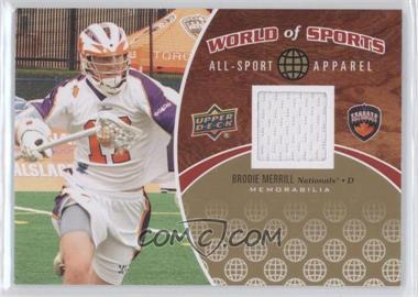 2010 Upper Deck World of Sports - All-Sport Apparel #ASA-43 - Brodie Merrill