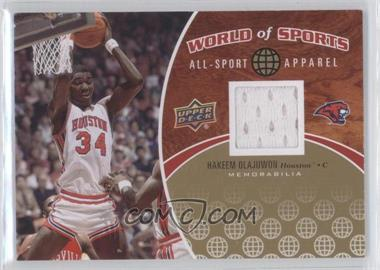 2010 Upper Deck World of Sports - All-Sport Apparel #ASA-8 - Hakeem Olajuwon