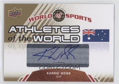 2010 Upper Deck World of Sports - Athletes of the World #AW-40 - Karrie Webb