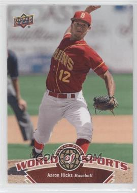 2010 Upper Deck World of Sports - [Base] #132 - Aaron Hicks