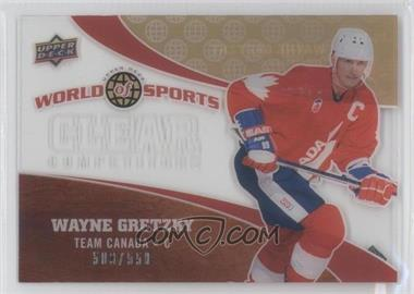 2010 Upper Deck World of Sports - Clear Competitors #CC-16 - Wayne Gretzky /550