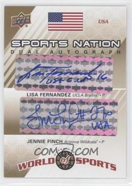 2010 Upper Deck World of Sports - Sports Nation Dual Autograph #SND-FF - Lisa Fernandez, Jennie Finch /50