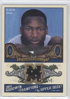 2011 Upper Deck Goodwin Champions - Authentic Memorabilia #M-BJ - Bo Jackson