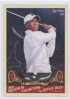 2011 Upper Deck Goodwin Champions - [Base] #21.2 - Tiger Woods (Dark Storm Background)
