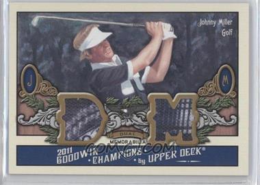 2011 Upper Deck Goodwin Champions - Dual Memorabilia #M2-JM - Johnny Miller