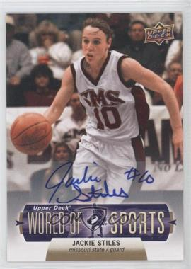 2011 Upper Deck World of Sports - Autographs #64 - Jackie Stiles