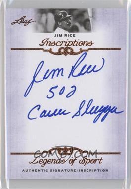 2012 Leaf Legends of Sport - Inscriptions #I-JR1 - Jim Rice
