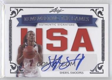 2012 Leaf Legends of Sport - Remembering the Games Autographs - Silver #RTG-SS1 - Sheryl Swoopes /10
