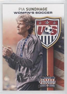 2012 Panini Americana Heroes & Legends - US Women's Soccer Team #3 - Pia Sundhage