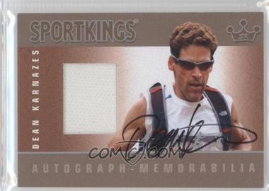 2012 Sportkings Series E - Autograph - Memorabilia - Silver #AM-DK1 - Dean Karnazes /50