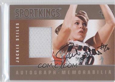 2012 Sportkings Series E - Autograph - Memorabilia - Silver #AM-JST1 - Jackie Stiles /50