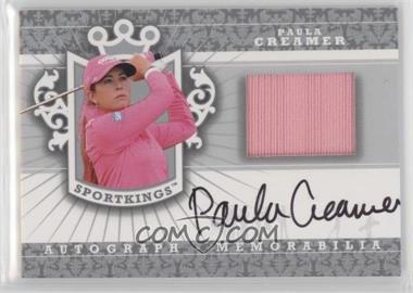 2012 Sportkings Series E - Autograph - Memorabilia - Silver #AM-PC1 - Paula Creamer /40