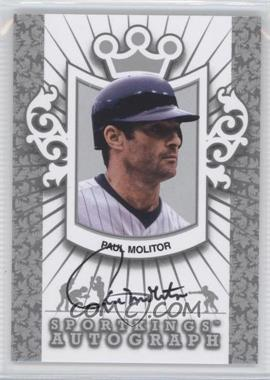 2012 Sportkings Series E - Autograph - Silver #A-PM2 - Paul Molitor /30