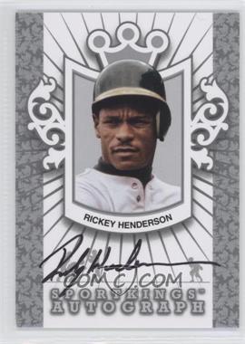 2012 Sportkings Series E - Autograph - Silver #A-RH2 - Rickey Henderson /30