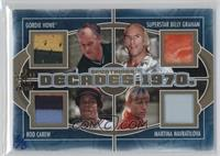 Gordie Howe, Superstar Billy Graham, Rod Carew, Martina Navratilova /3