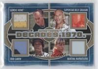 Gordie Howe, Superstar Billy Graham, Rod Carew, Martina Navratilova