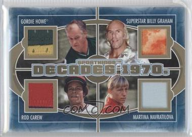 2012 Sportkings Series E - Decades - Gold #D-02 - Gordie Howe, Superstar Billy Graham, Rod Carew, Martina Navratilova