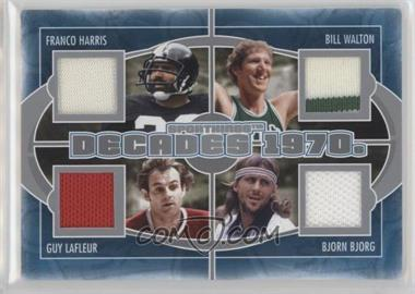 2012 Sportkings Series E - Decades - Silver #D-01 - Franco Harris, Bill Walton, Guy Lafleur, Bjorn Borg /40