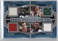 Franco Harris, Bill Walton, Guy Lafleur, Bjorn Borg /40