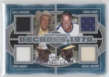 2012 Sportkings Series E - Decades - Silver #D-03 - Doyle Brunson, Gordie Howe, Reggie Jackson, Eddie Murray /40