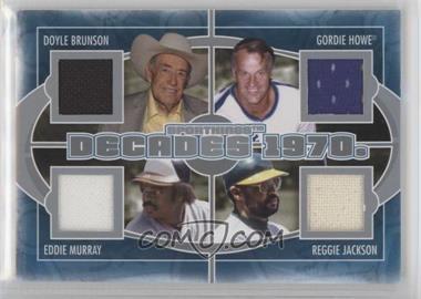 2012 Sportkings Series E - Decades - Silver #D-03 - Doyle Brunson, Gordie Howe, Reggie Jackson, Eddie Murray /40