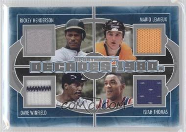 2012 Sportkings Series E - Decades - Silver #D-04 - Rickey Henderson, Mario Lemieux, Dave Winfield, Isiah Thomas /40