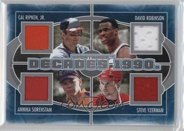 2012 Sportkings Series E - Decades - Silver #D-06 - Cal Ripken Jr., David Robinson, Annika Sorenstam, Steve Yzerman /40