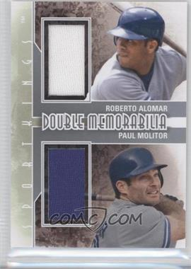 2012 Sportkings Series E - Double Memorabilia - Silver #DM-01 - Roberto Alomar, Paul Molitor