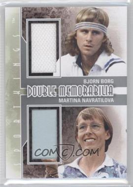 2012 Sportkings Series E - Double Memorabilia - Silver #DM-06 - Bjorn Borg, Martina Navratilova