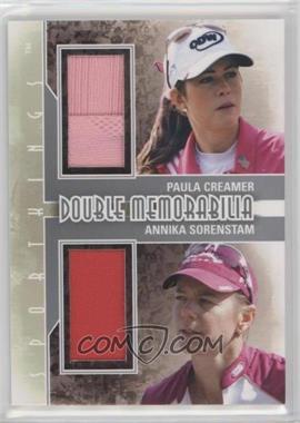 2012 Sportkings Series E - Double Memorabilia - Silver #DM-08 - Paula Creamer, Annika Sorenstam