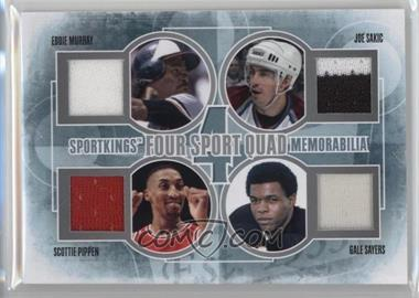 2012 Sportkings Series E - Four Sport Quad Memorabilia - Silver #FSQM-05 - Eddie Murray, Joe Sakic, Scottie Pippen, Gale Sayers /30