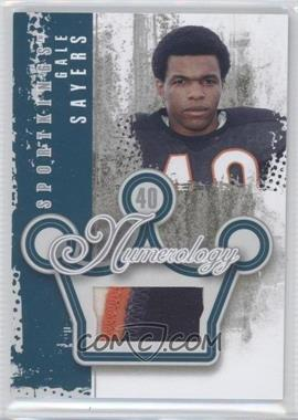 2012 Sportkings Series E - Numerology - Silver #N-15 - Gale Sayers /4