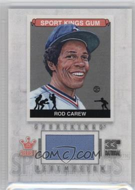 2012 Sportkings Series E - Redemption Single Memorabilia - Silver #SKR-03 - Rod Carew /19