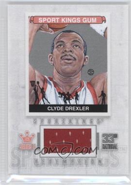 2012 Sportkings Series E - Redemption Single Memorabilia - Silver #SKR-06 - Clyde Drexler /19