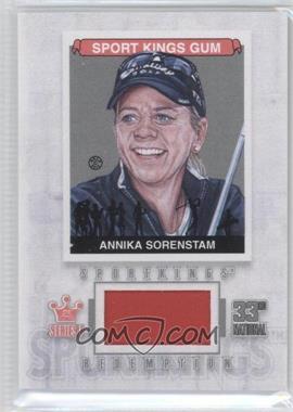 2012 Sportkings Series E - Redemption Single Memorabilia - Silver #SKR-23 - Annika Sorenstam /19