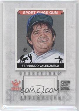 2012 Sportkings Series E - Redemption Single Memorabilia - Silver #SKR-25 - Fernando Valenzuela /19