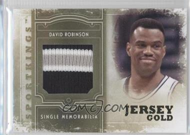 2012 Sportkings Series E - Single Memorabilia - Gold Jersey #SM-09 - David Robinson /10