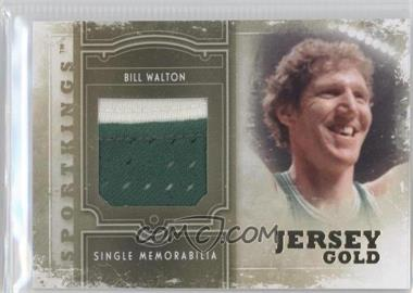 2012 Sportkings Series E - Single Memorabilia - Gold Jersey #SM-12 - Bill Walton /10